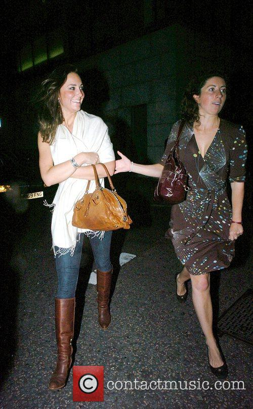 Kate Middleton and friend leaving Whiskey Mist in Mayfair