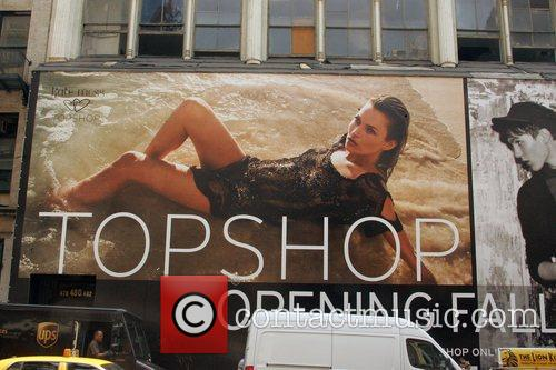 Kate Moss in a larger than life ad...