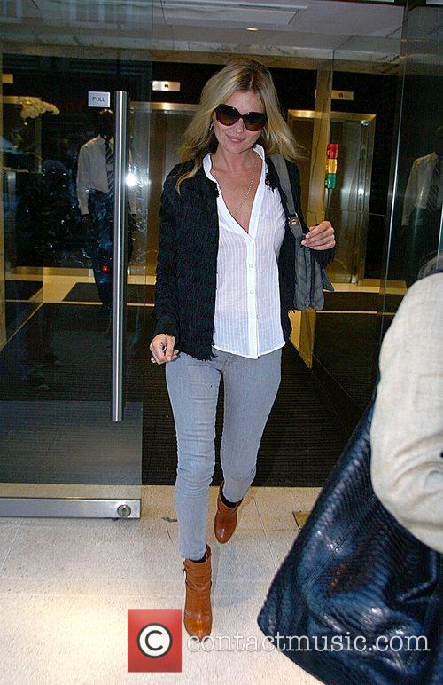 Kate Moss leaves Philip Green's offices after a...