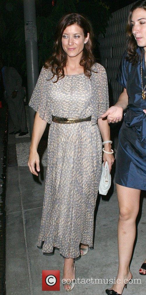 American actress Kate Walsh leaving a private party...