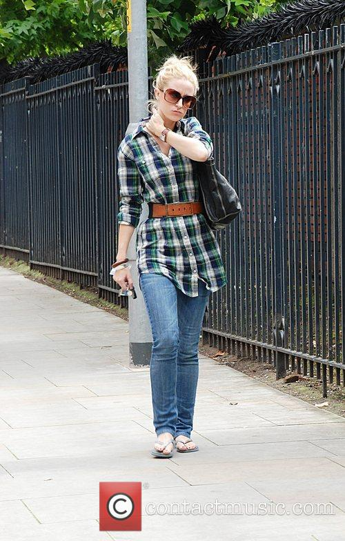 Arrives at ITV studios for filming