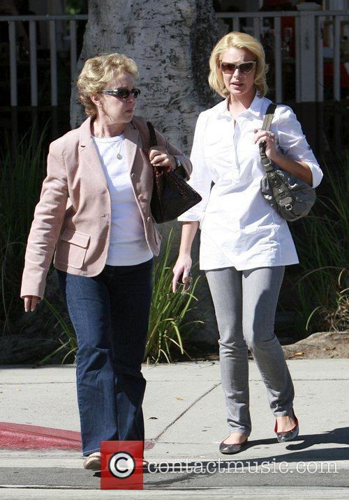 Katrine Heigl out and about in Melrose West...