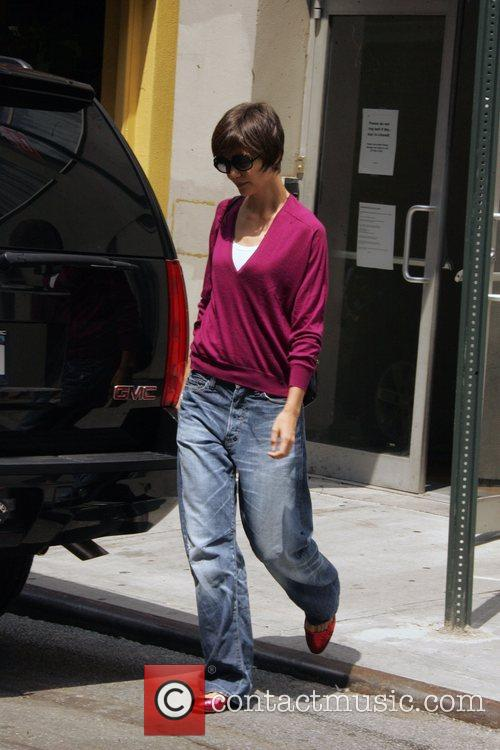 Katie Holmes leaving rehearsals for her Broadway debut...