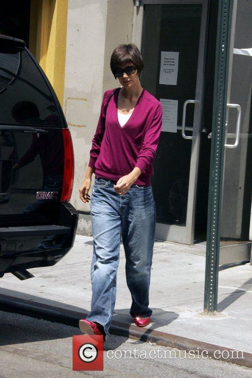 Leaving rehearsals for her Broadway debut in Arthur...
