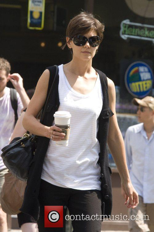 Katie Holmes arrives for rehearsals for her upcoming...