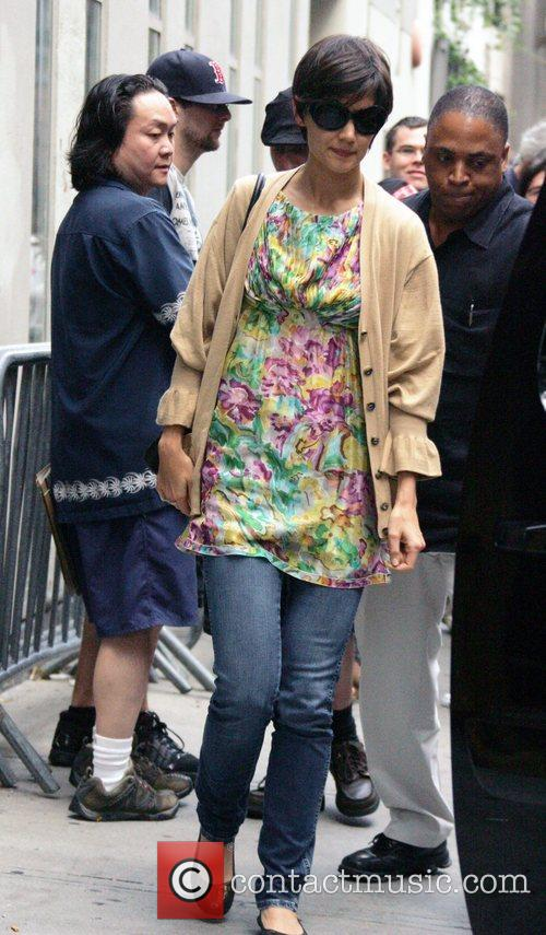 Katie Holmes  leaves rehearsals for her upcoming...