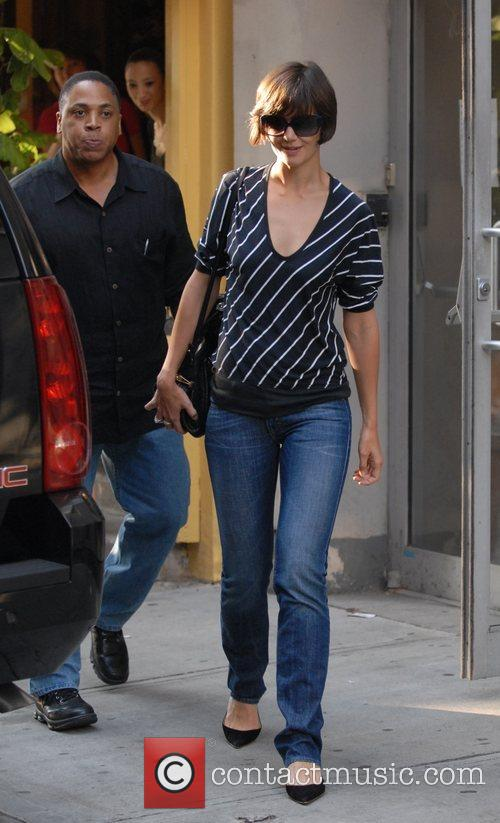 Katie Holmes departs rehearsals for her upcoming Broadway...