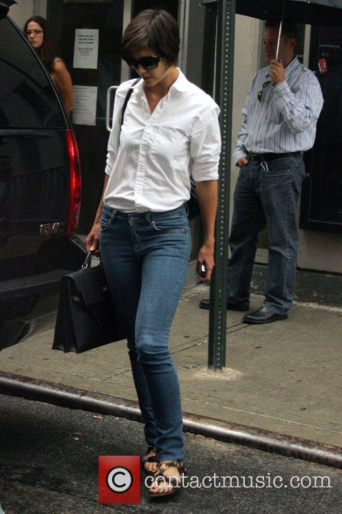 Katie Holmes leaving after rehearsals for her upcoming...