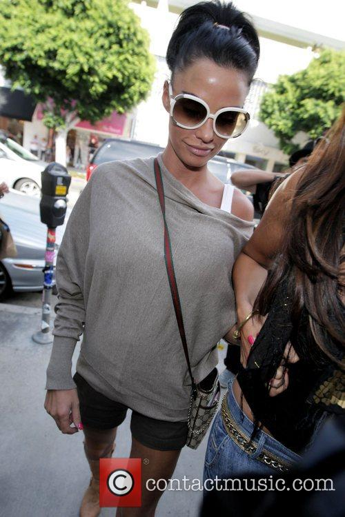 katie price (aka jordan) goes shopping at kitson boutique on robertson blvd a day after being released from the hospital following cosmetic surgery 5174563