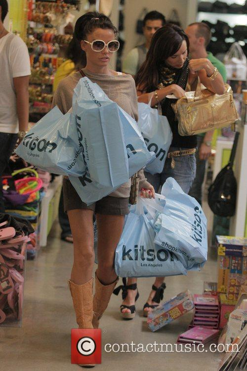 katie price (aka jordan) goes shopping at kitson boutique on robertson blvd a day after being released from the hospital following cosmetic surgery 5174586