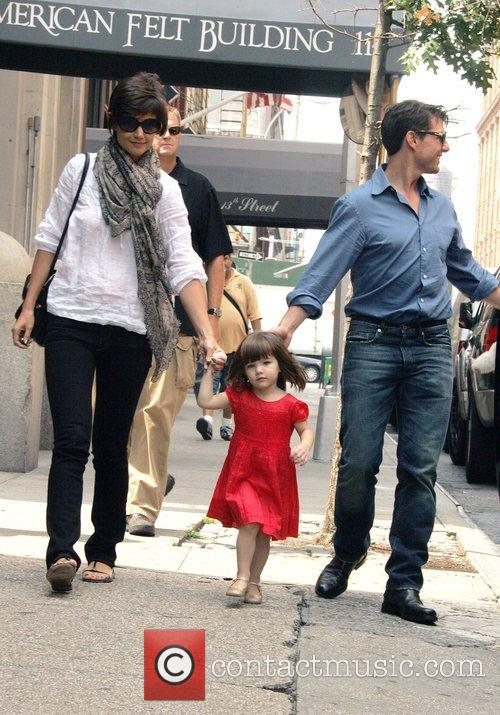 Katie Holmes, Suri Cruise and Tom Cruise out...