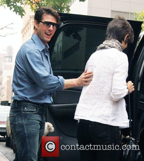 Katie Holmes and Tom Cruise out and about...