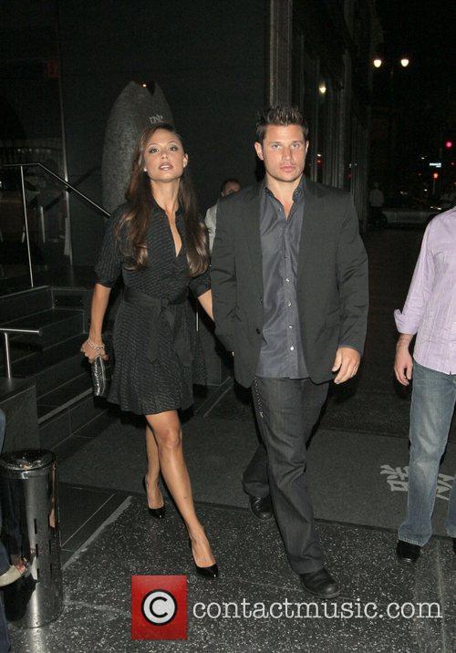 Vanessa Manillo and Nick Lachey outside Katsuya restaurant...