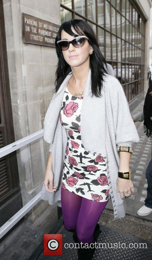 Katy Perry arrives at Radio 1 studios London,...