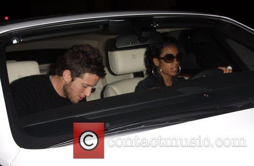Keisha Cole leaving bar and club Villa Los...