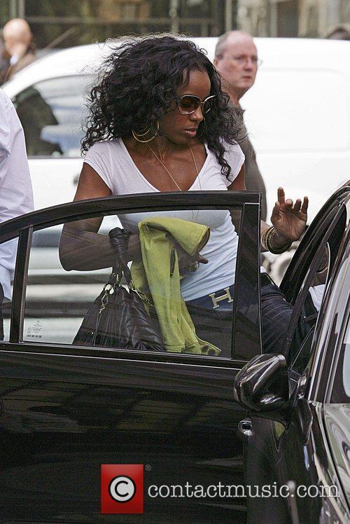 Kelly Rowland leaving Radio 1 studios London, England