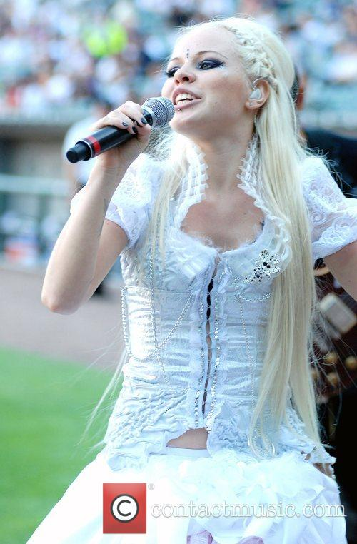 Estonian pop singer performs at the U.S. Cellular...