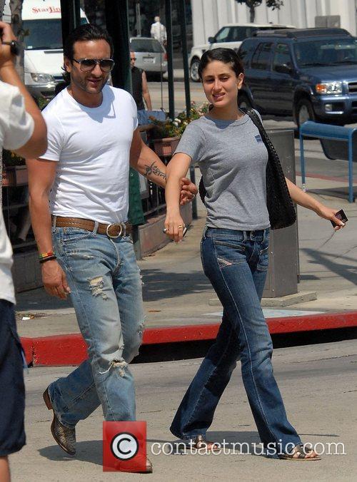 Bollywood couple Saif Ali Khan and Kareena Kapoor...
