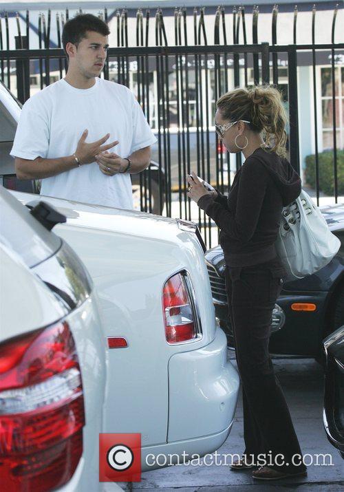 Robert Kardashian and girlfriend Adriana Bailon arriving at...
