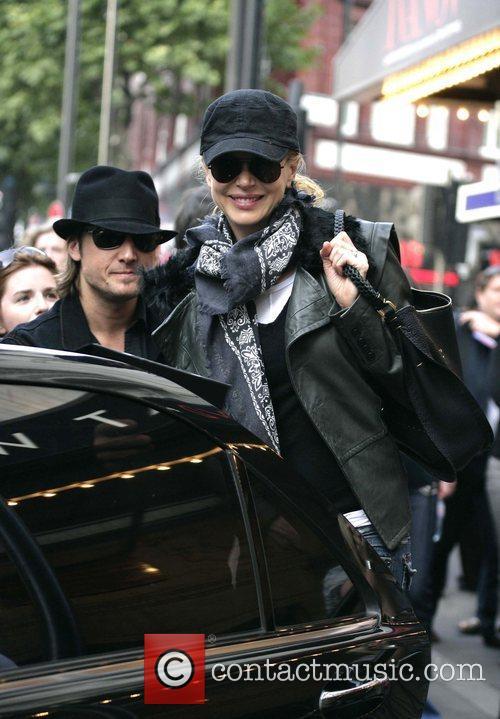 Keith Urban and Nicole Kidman leaving the Wyndham's...