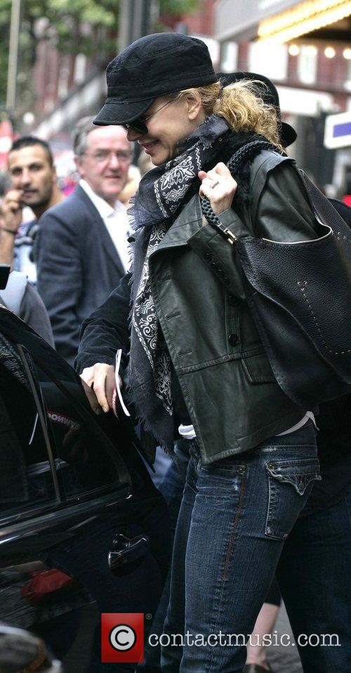 Nicole Kidman leaving the Wyndham's Theatre after seeing...