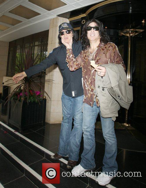 Kiss rockers Gene Simmons and Paul Stanley check...