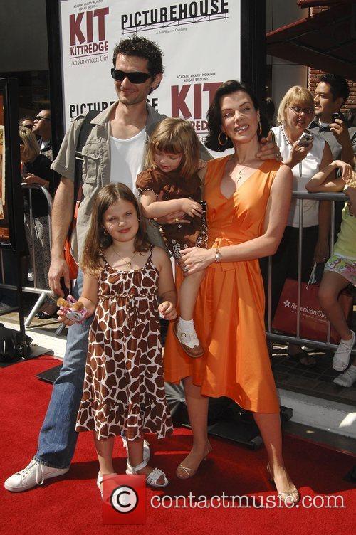 Gabriele Corcos, Debi Mazar with children Giulia, Evelyn...