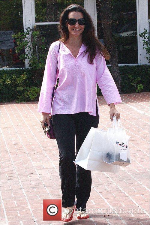Kristen Davis runs errands in Brentwood before heading...