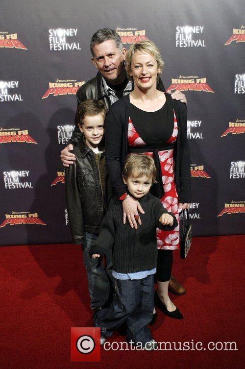 Amanda Keller and family Premiere of 'Kung Fu...