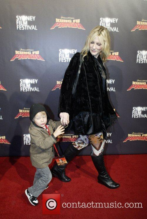 Cate Blanchett and son Roman Premiere of 'Kung...