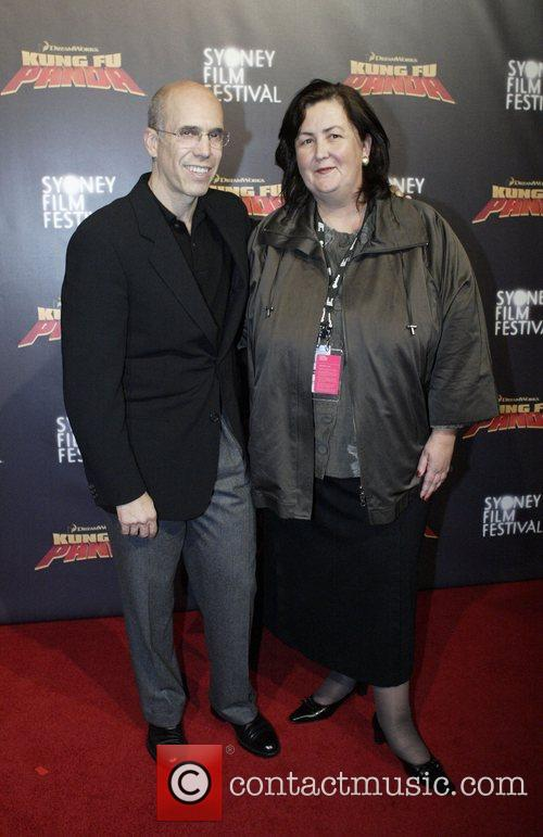 Jeffrey Katzenberg and Clare Stewart Premiere of 'Kung...