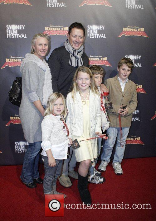 Phil Kearns and family Premiere of 'Kung Fu...