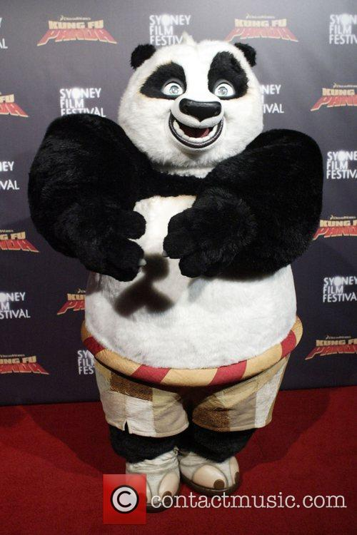 Po the Panda  Premiere of 'Kung Fu...