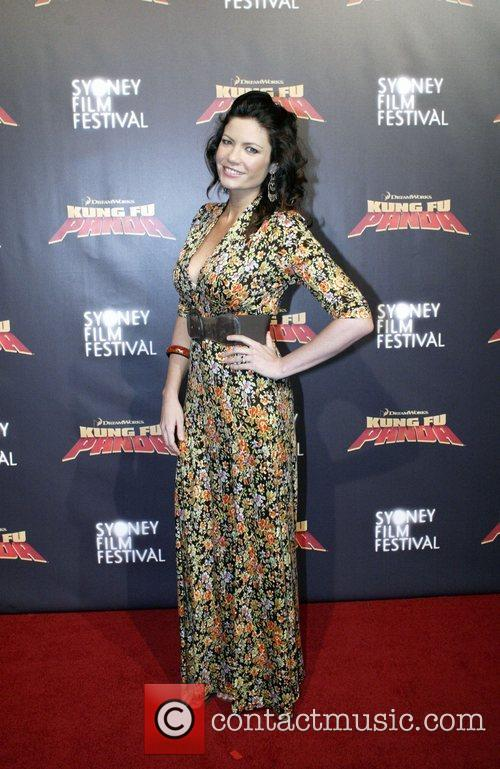Tiffani Wood Premiere of 'Kung Fu Panda' at...