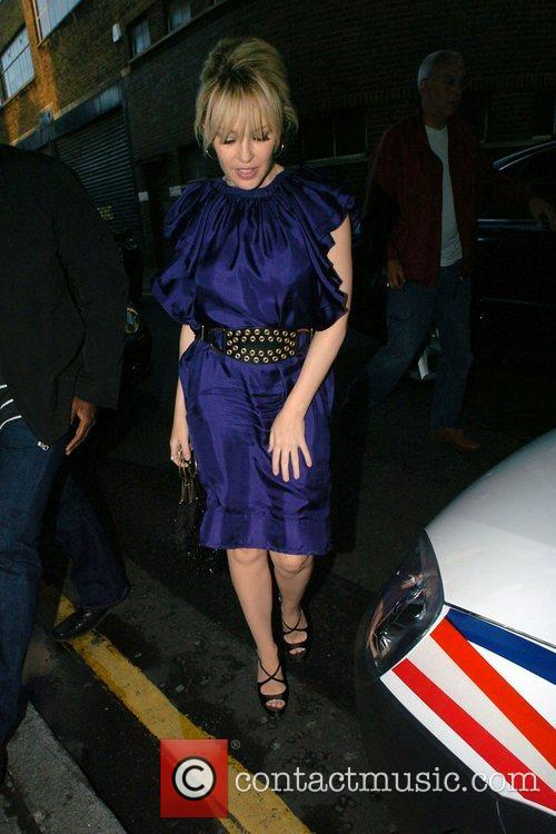 Kylie Minogue celebrated her OBE award drinking at...