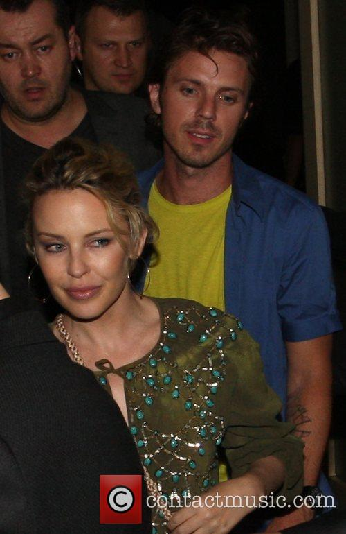 Kylie Minogue and Jake Spears Leaving Nobu 3