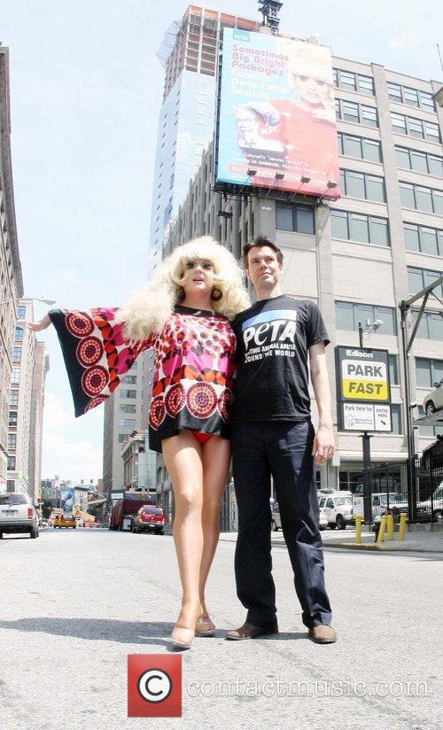 Lady Bunny and Director of Media Relations, Michael...