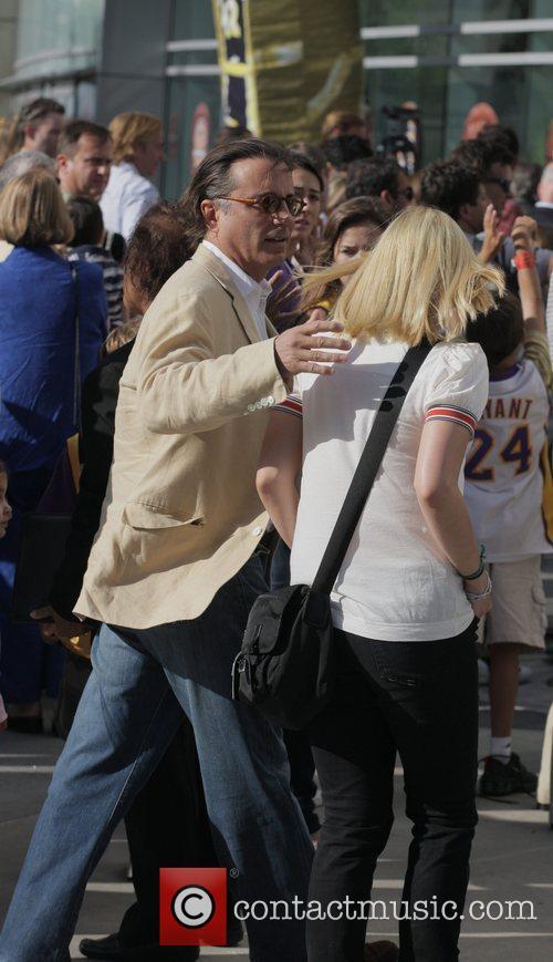 Andy Garcia Arrivals at the LA Lakers v...
