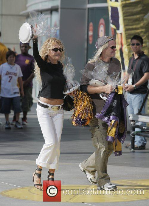 Dyan Cannon Arrivals at the LA Lakers v...