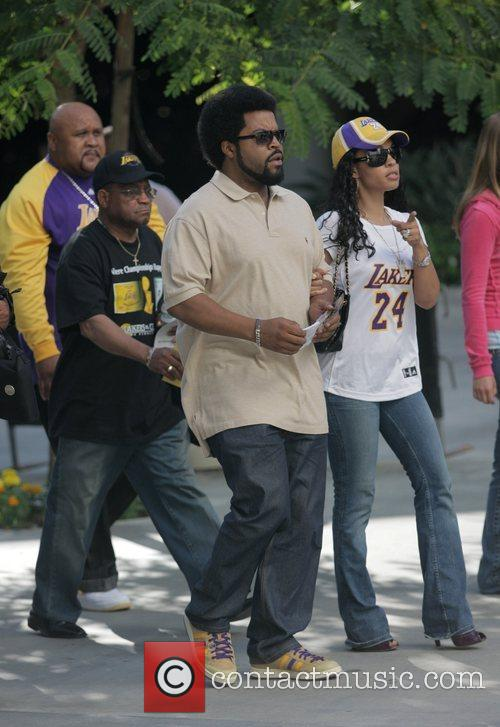Ice Cube Arrivals at the LA Lakers v...