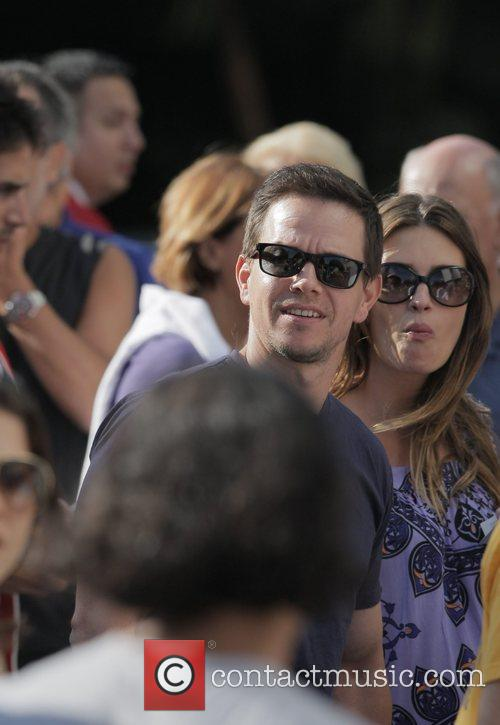 Mark Wahlberg Arrivals at the LA Lakers v...