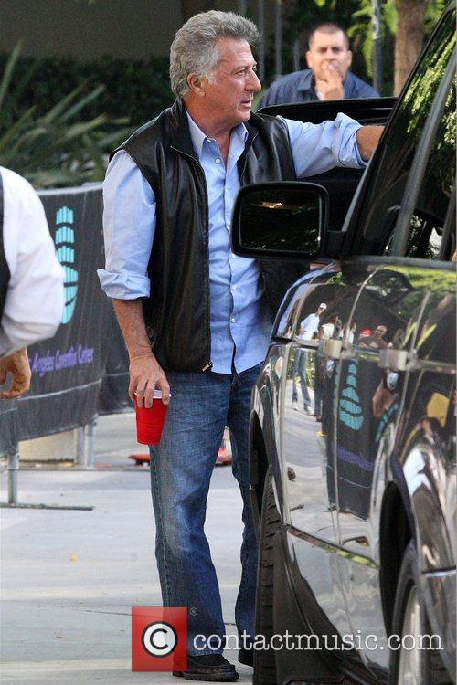 Dustin Hoffman Celebrities leaving Staples Centre after Game...