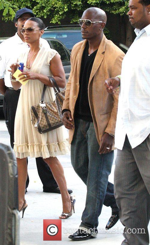 Tyrese Gibson Celebrities leaving Staples Centre after Game...
