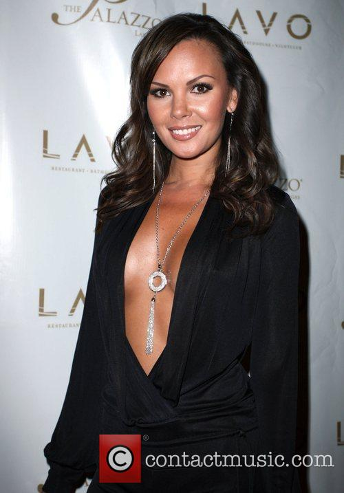 Cassandra Tan Grand opening of Lavo Restaurant and...