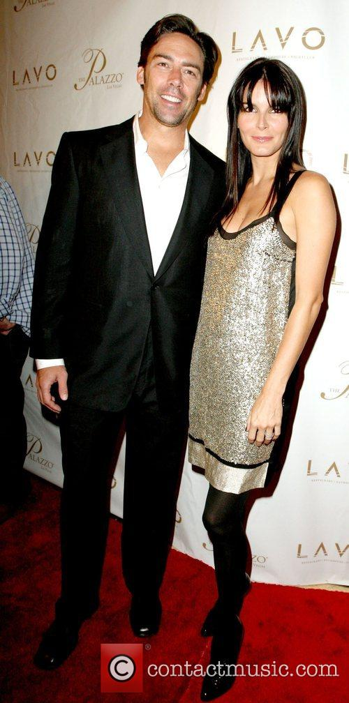 Jason Sehorn and Angie Harmon Grand opening of...