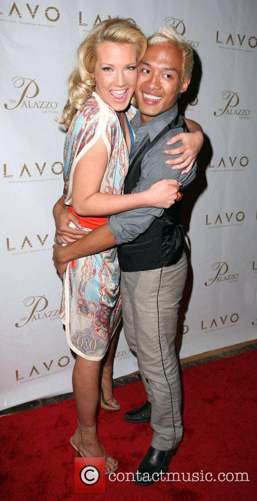 Katie Rees and guest Grand opening of Lavo...