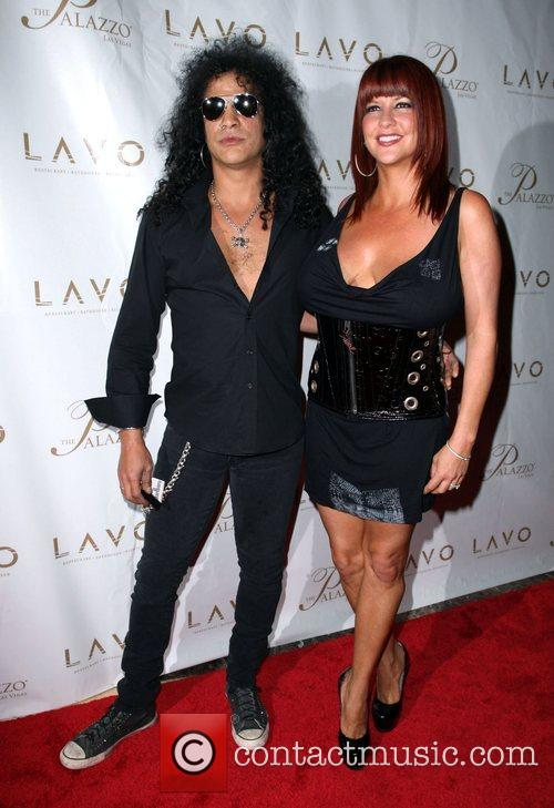 Slash and Pearla Hudson Grand opening of Lavo...