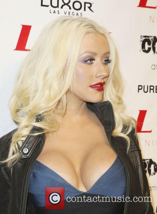 Christina Aguilera at LAX Nightclub inside the Luxor...
