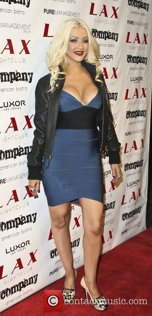 Christina Aguilera at LAX Nightclub inside the Luxor...
