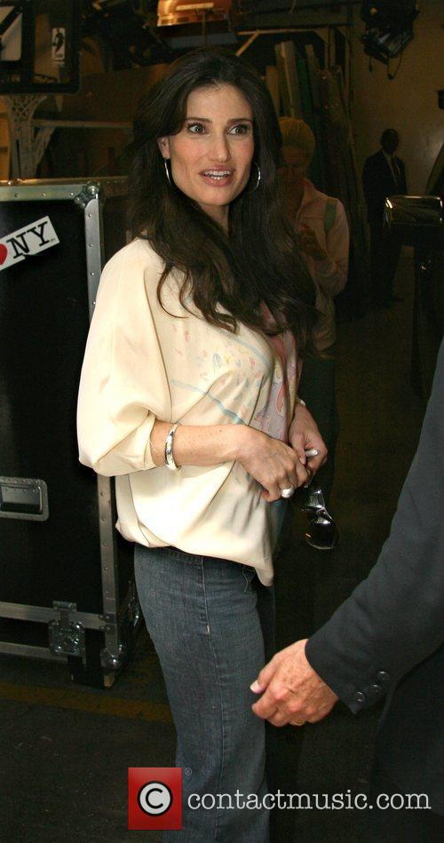 Idina Menzel leaving ABC Studios after appearing on...
